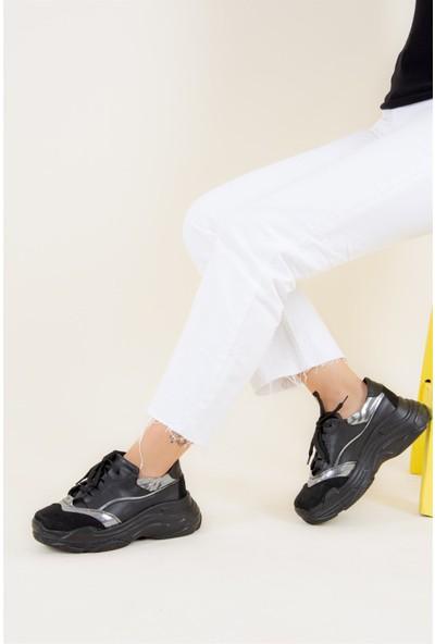 Fox Shoes Siyah Kadın Sneakers F588700109