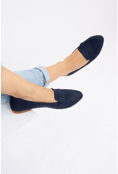 Fox Shoes Lacivert Kadın Babet D290092602