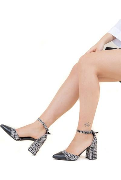 Fox Shoes Siyah Kadın Topuklu F494319205