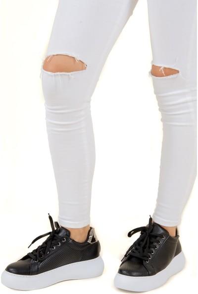 Fox Shoes Siyah Kadın Sneakers F583002409