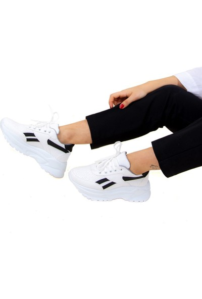 Fox Shoes BeyazSiyah Kadın Sneakers F288052909