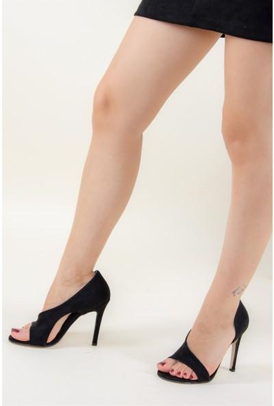 Fox Shoes Siyah Kadın Topuklu Ayakkabı F340407402