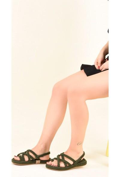 Fox Shoes Haki Kadın Sandalet F470135104
