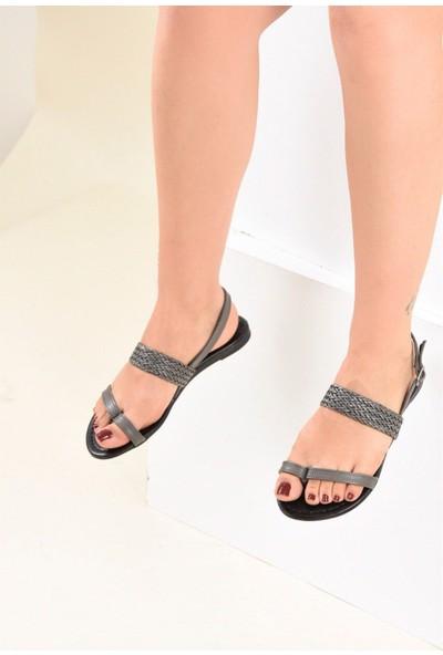 Fox Shoes Gri Kadın Sandalet F713061909