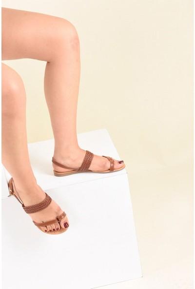 Fox Shoes Taba Kadın Sandalet F713061909