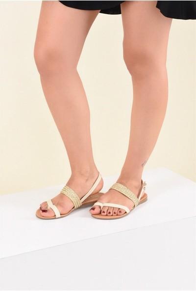 Fox Shoes Bej Kadın Sandalet F713061909