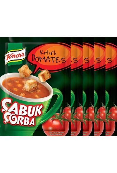Knorr Çabuk Çorba Kıtırlı Domates Çorbası 5'li Paket