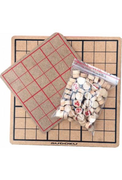 Sorona Ahşap Rakamlarla Sudoku Zeka Mantık Ve Matematik Oyunu