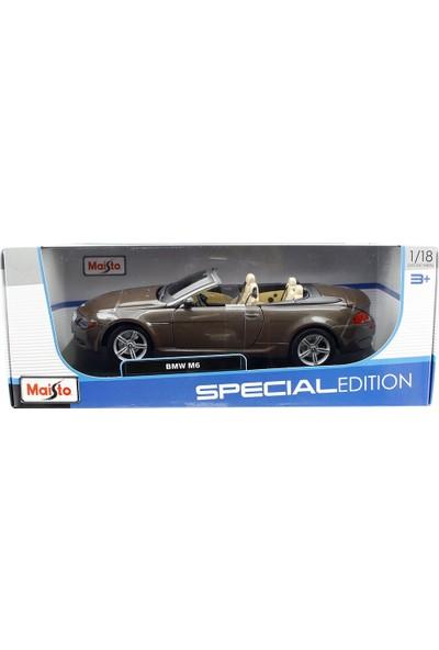 Maisto Bmw M6 Cabriolet 1:18 Model Araba Kahverengi