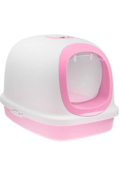 Biokat's Kapalı Kedi Tuvaleti Pembe XXL