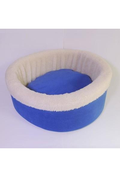 Bedspet Sepet Kedi Köpek Yatağı Mavi