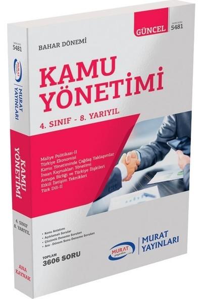 Murat Yayınları Kamu Yönetimi 4. Sınıf 8. Yarıyıl