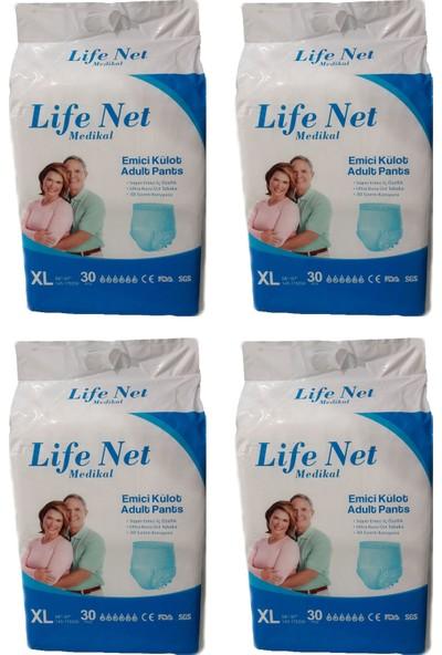 Life Net Medikal Külotlu Hasta Bezi 120 Adet Xlarge