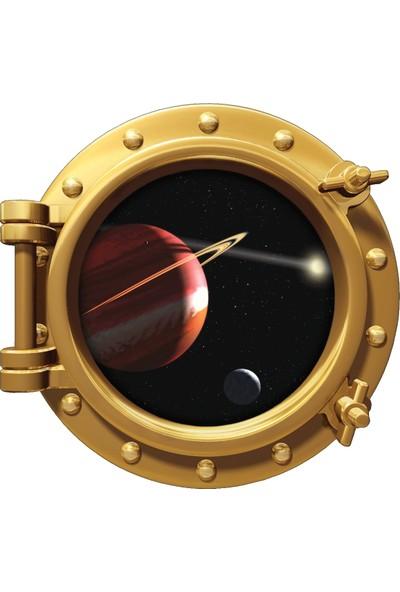 Renkselart Uzay Gemisi Gezegen Uzay Boşluğu Duvar Sticker