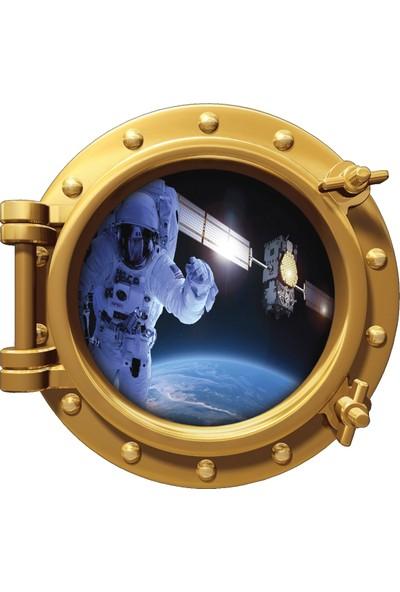 Renkselart Uzay Gemisi Astronot Atmosfer Roket Uydu Duvar Sticker