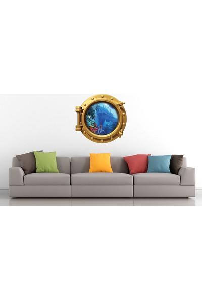 Renkselart Gemi Denizaltı Pencere Gemi Batığı Duvar Sticker