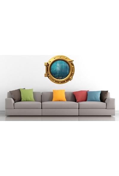 Renkselart Gemi Denizaltı Pencere Akvaryum Balık Duvar Sticker