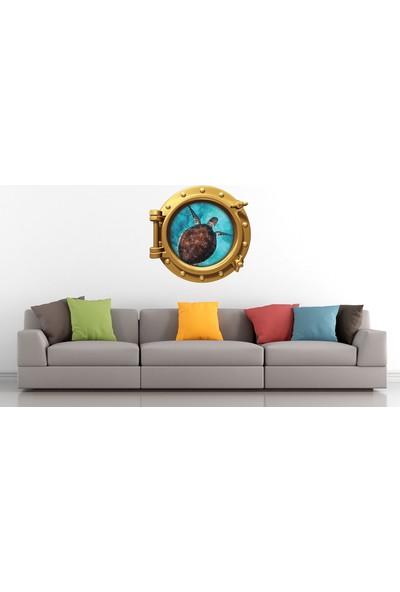 Renkselart Gemi Denizaltı Pencere Deniz Kaplumbağası Duvar Sticker