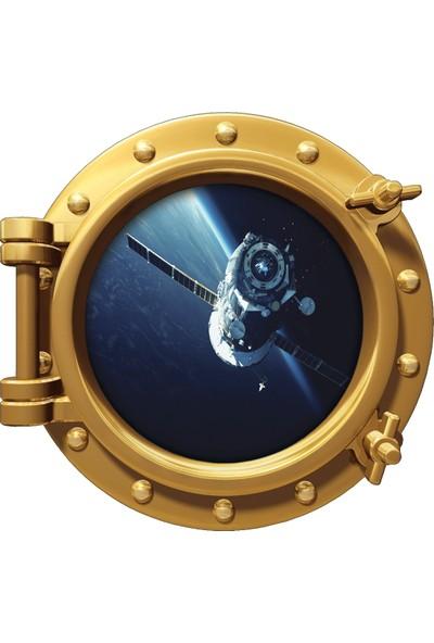 Renkselart Uzay Gemisi Atmosfer Roket Uydu Duvar Sticker