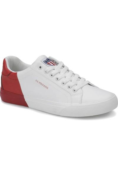 U.S. Polo Assn. Lexi Beyaz Bordo Erkek Sneaker Ayakkabı