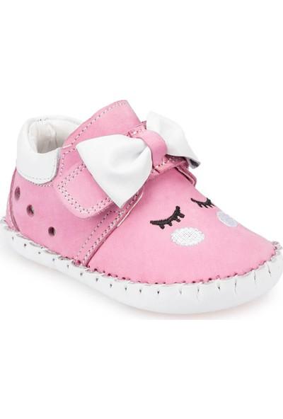 Polaris 91.511009.İ Pembe Kız Çocuk Deri Ayakkabı