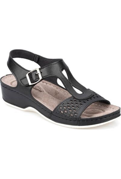 Polaris 5 Nokta 91.100728.Z Siyah Kadın Sandalet
