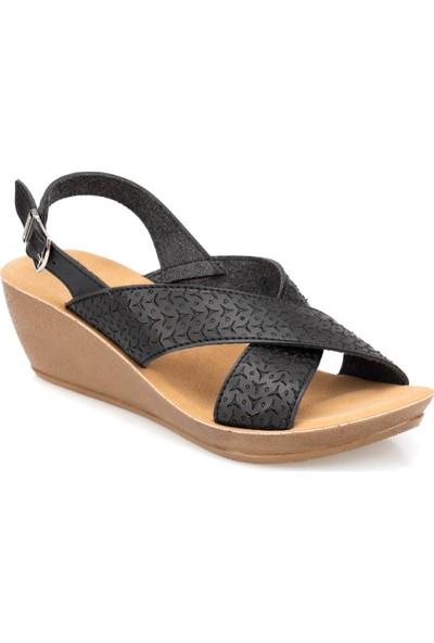Polaris 91.150765.Z Siyah Kadın Sandalet