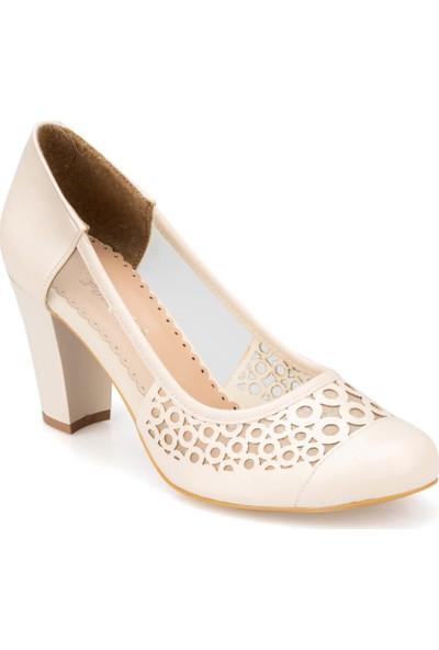 Polaris 91.313107.Z Bej Kadın Gova Ayakkabı