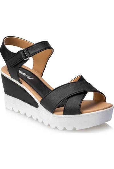 Polaris 91.313492.Z Siyah Kadın Sandalet