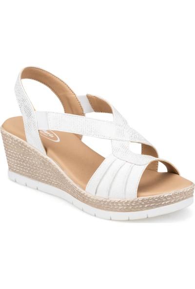 Polaris 91.150722.Z Beyaz Kadın Sandalet