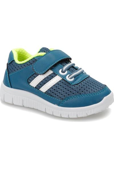 I Cool James Petrol Beyaz Erkek Çocuk Sneaker Ayakkabı