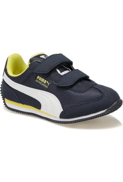 Puma Whirlwind Mesh V Ps Lacivert Sarı Kız Çocuk Sneaker Ayakkabı