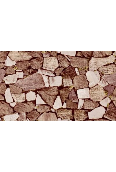 Ardeko Salon İçin Kayrak Doğal Taş Desen Duvar Kağıdı