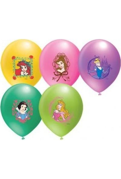 Parti Şöleni Prensesler Balon 20 Adet
