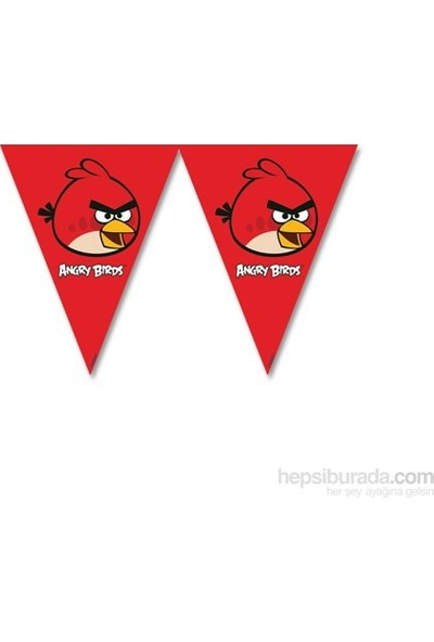 Angry Bırds Klasik Üçgen Bayrak Set