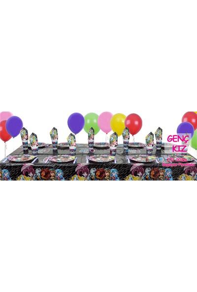 Parti Şöleni Monster High Doğum Günü Parti Seti 20 Kişilik