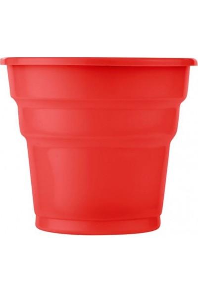 Parti Şöleni Kırmızı Plastik Bardak 25 Adet