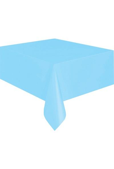 KullanAtMarket Bebek Mavisi Plastik Masa Örtüsü -1 Adet