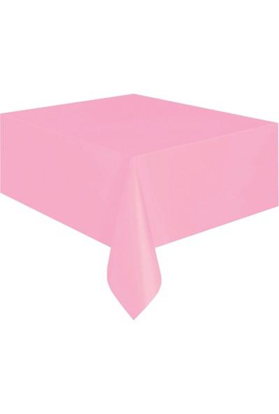 KullanAtMarket Pembe Plastik Masa Örtüsü -1 Adet