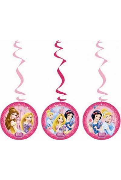 Partypark Prensesler 3'Lü Asma Süs