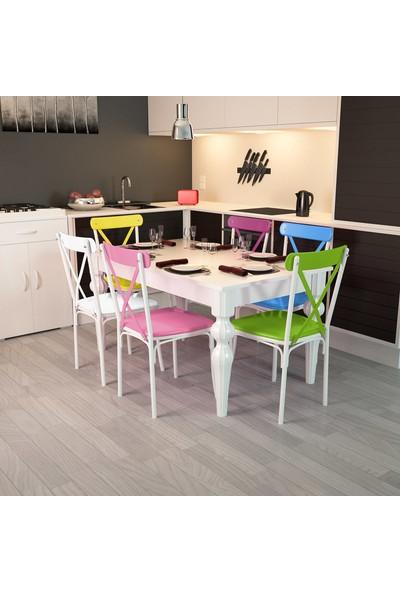 Modilayn Flora-6-Tonet-Torna-Ayaklı-Masa-Sandalye-Takımı