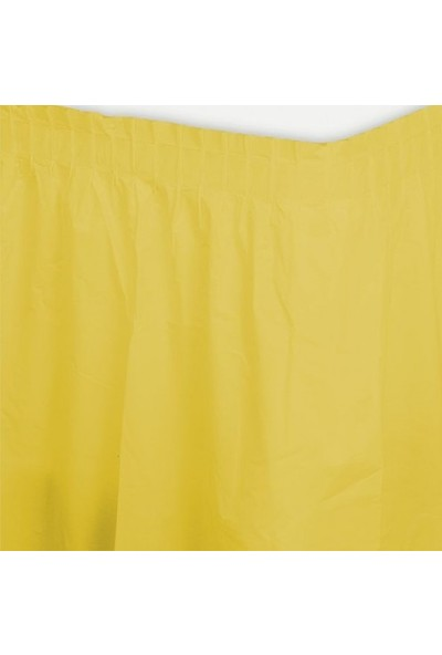 Parti Şöleni Sarı Masa Eteği