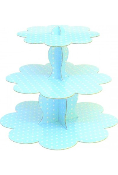 Parti Şöleni Açık Mavi Cupcake Stand 1 Adet