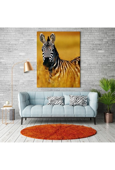 Ega Kanvas Tablo Zebra