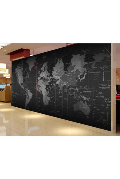 Ega Duvar Kağıdı Dünya Haritası Dijital Baskı