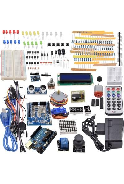 Arduino 264 Parça Uno R3 Robotik Kodlama Uygulama Uyumlu Süper Proje Eğitim Seti T11