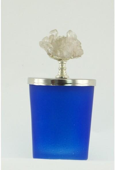 Mobisüs Kuvars Mavi Bardak Gümüş Tepelik