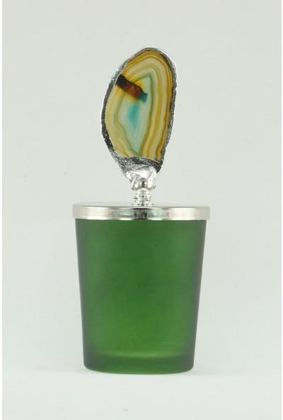 Mobisüs Akik Güz Güzeli Yeşil Bardak Gümüş Tepelik