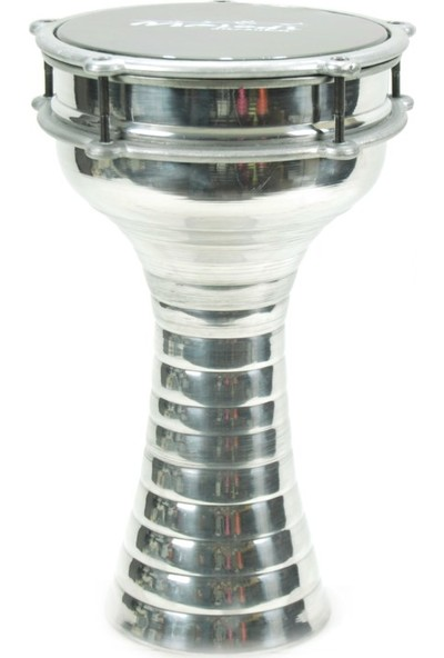 Ses Müzik Aletleri Darbuka DAB20SL Alüminyum 20 X 37 Gümüş