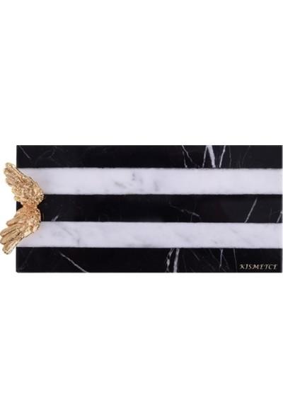 Kısmetce Raguel Siyah-Beyaz Sunum Tepsisi